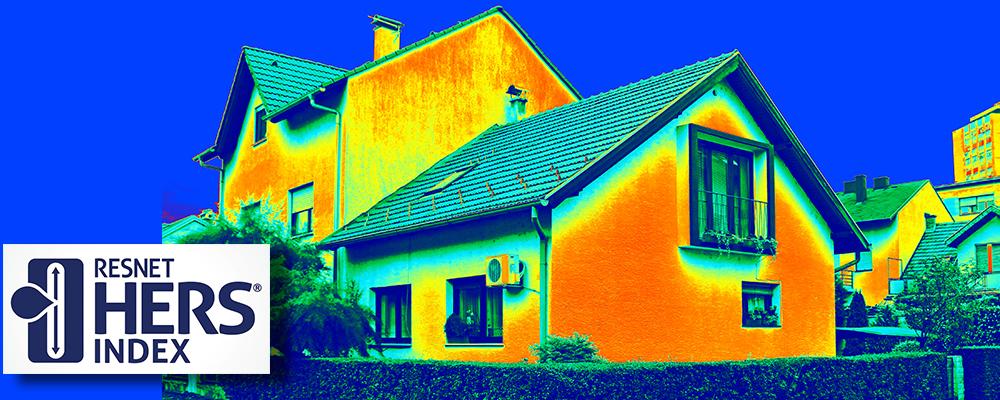 House showing heat signature