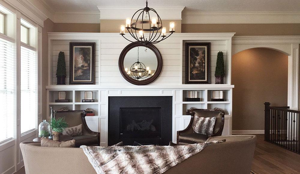 Custom home builder great room
